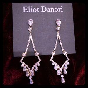 NWT Gold & Crystal Chandelier Earrings